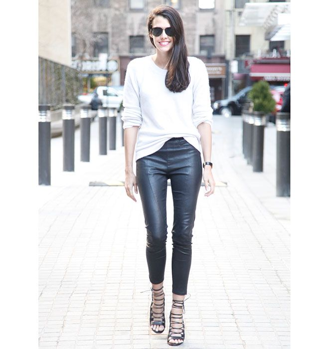 Editor's Street Style Natalie Matthews Photos - Aquazzara Cutout Sandals - ELLE