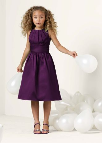 This short cotton dress is sweet and simple for the junior bridesmaid.   Ruching adds fun detail, while the short silhouette is ideal for wear again opportunities.  Features an adjustable fit for added flexibility and comfort with fewer alterations.  Fully lined. Imported polyester. Dry clean only.  To protect your dress, our Non Woven Garment Bag is a must have!