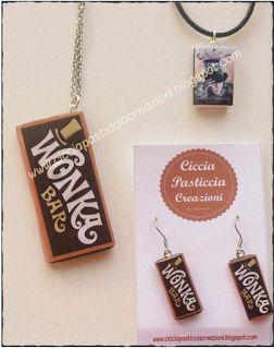 Ciccia Pasticcia Creazioni: Per un Natale dolcissimo, cioccolata Wonka!!! #willywonka  #cioccolato #cioccolet #argillasintetica #handmade