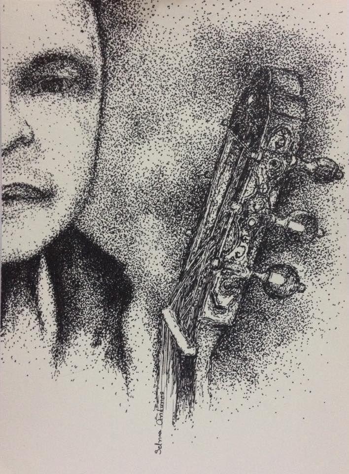 Série Violonistas - Desenho 11: Conan Mendes - Material utilizado:  nanquim - caneta Staedtler 0,6