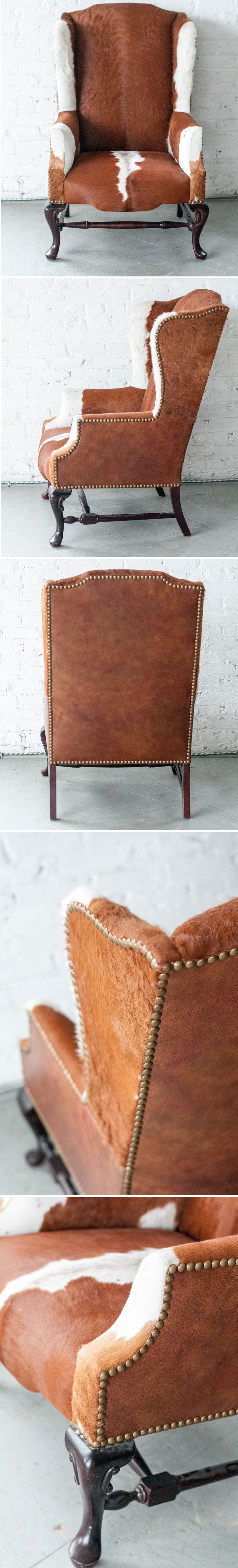 Our Cowhide Wingback chair | Patina