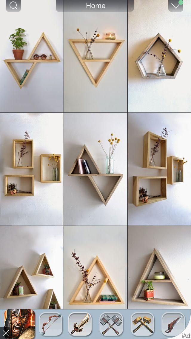 Diy room decor, Craft stick crafts, Room diy, Room decor, Bedroom decor, Diy home decor - Cuadros o libreros -  #Diyroom #decor