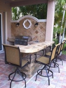 custom outdoor kitchen in boynton beach florida with aog built in bbq grill