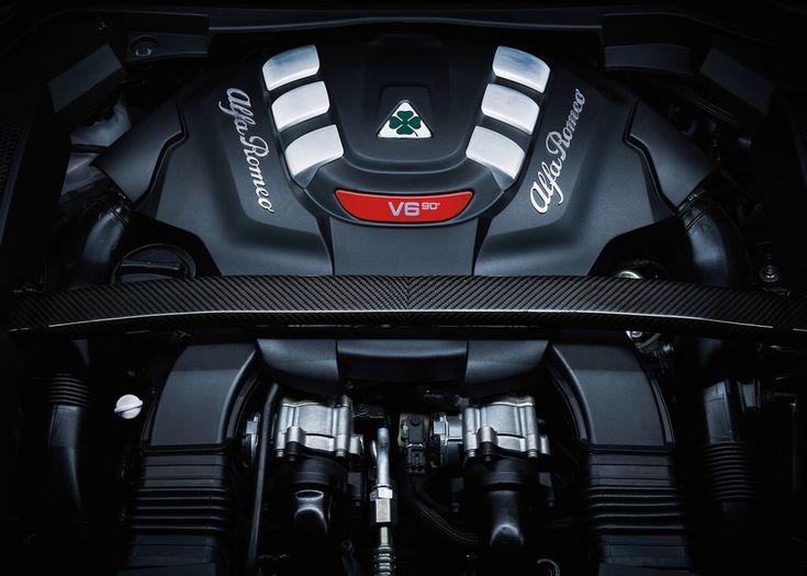 Alfa Romeo Stelvio Quadrifoglio V6 Engine