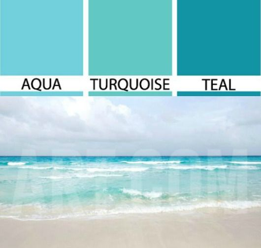 Ocean Blues Aqua Turquoise And Teal Http Www