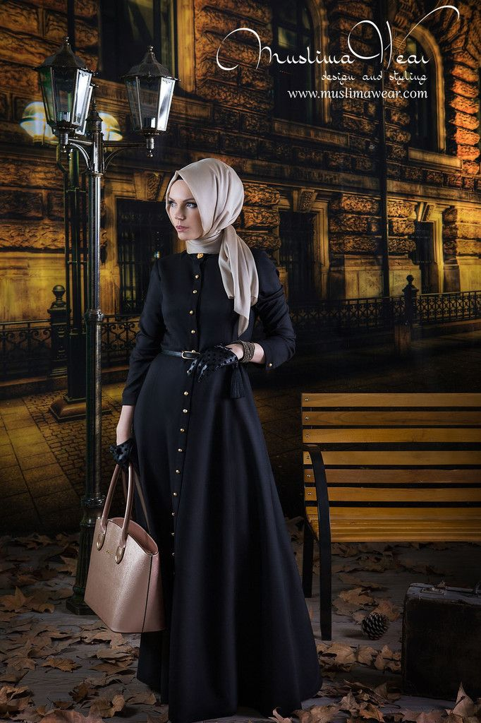 US Muslim women's wear. Maxi Dress in Classy Black