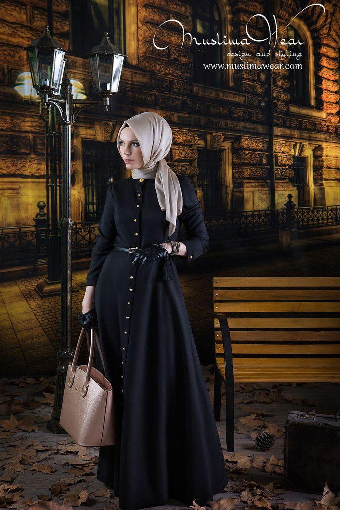 Muslima Wear. Dress in Classy Black color.