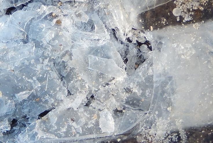 CREATION OF A PLANET- A STUDY IN ICE- FROM A PHOTO TAKEN BY MY SISTER ROBIN WILLIAMS- CREATED BY ELLEN BOUNDS
