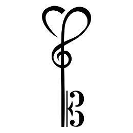 TATTOO TRIBES - Shape your dreams, Tattoos with meaning - music, skeleton key, clef, bass, treble, tenor, alto, soul, seagull, heart, freedom, voyage, travelling