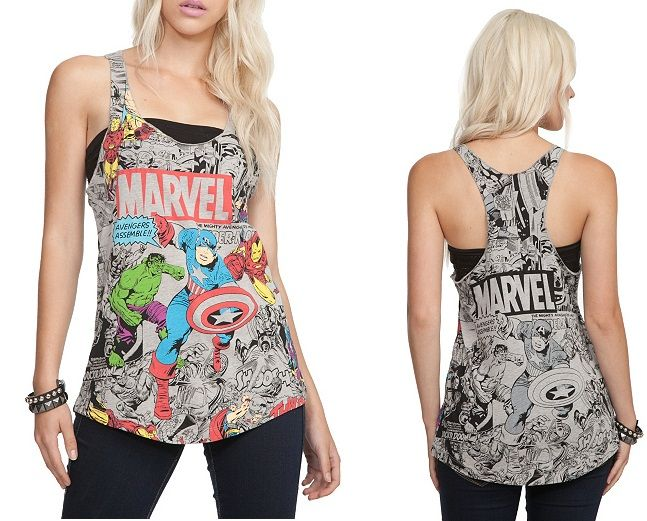 This actually doesn't look cheesy; hot topic avengers tank