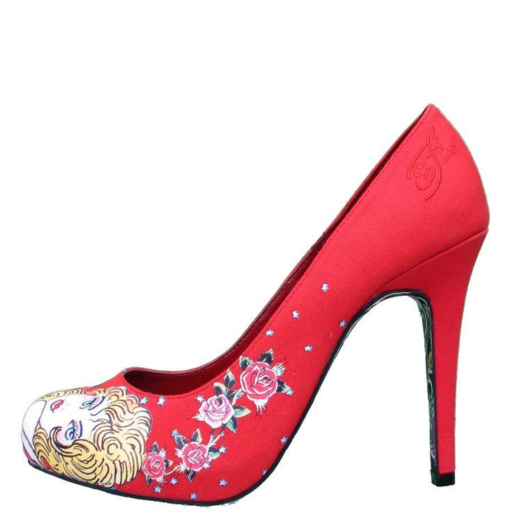 Ed Hardy Haute Pump Shoe for Women – Red