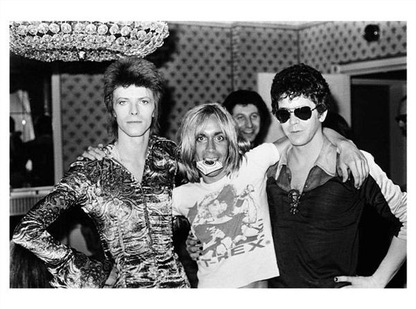 David Bowie, Iggy Pop and Lou Reed, 1972, por Mick Rock.