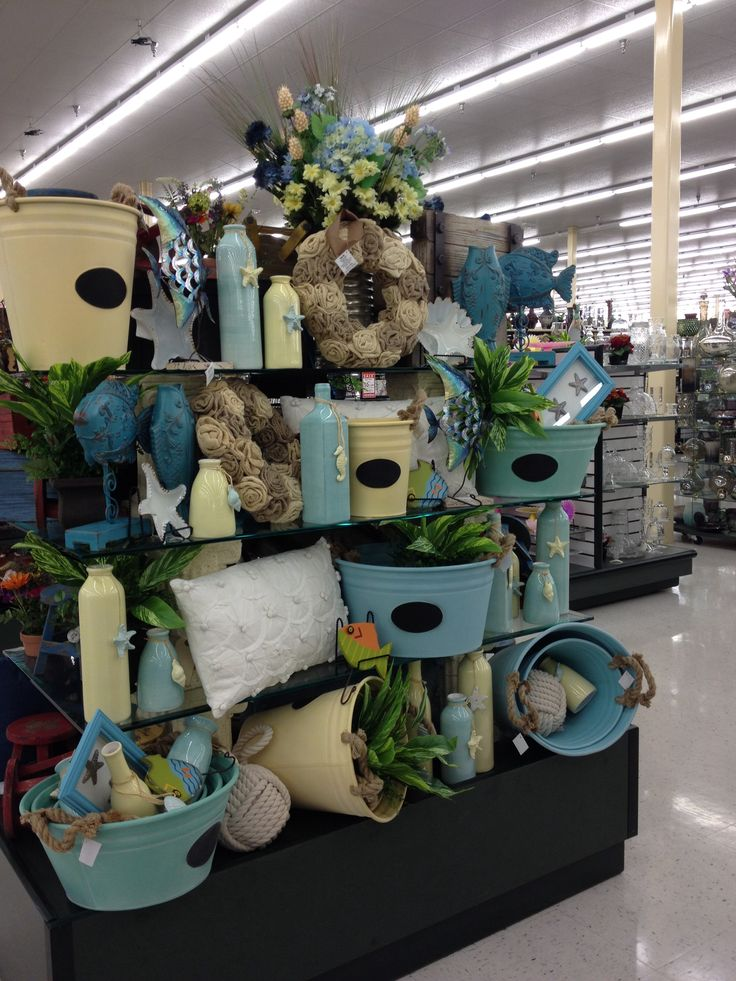 Merchandise features at Hobby Lobby For the store