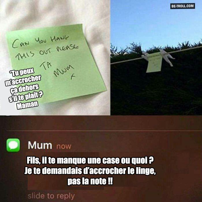 Pourtant j'ai fait ce que tu demandais, maman... - Be-troll - vidéos humour…