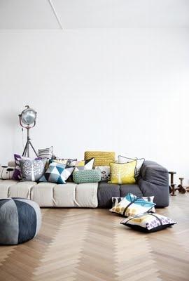 Ferm Living: Interior, Ferm Living, Fermliving, Sofa, Livingroom, Living Room, Cushions, Pillows, Design