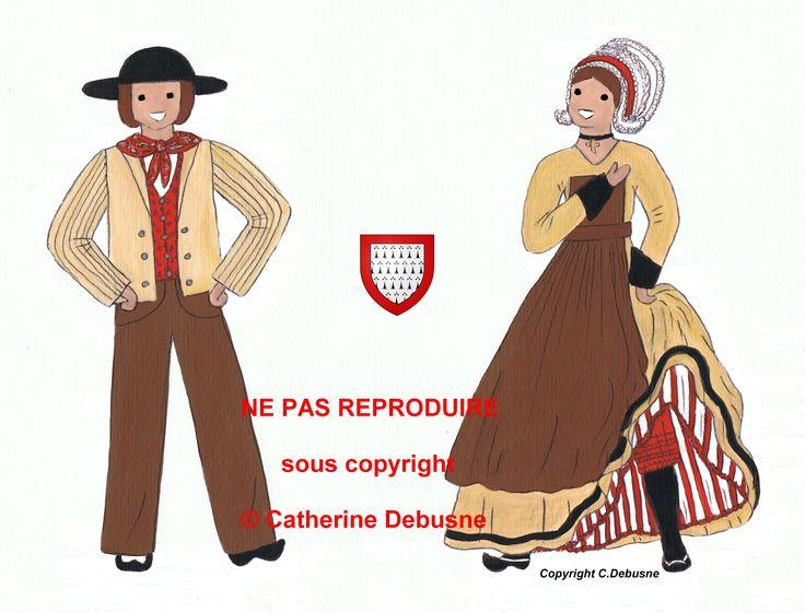 Quelques uns de la multitude remarquable des costumes traditionnels de notre Pays.