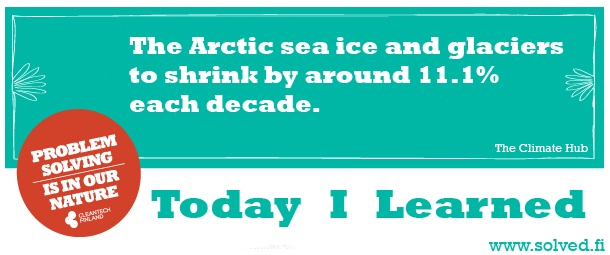 TIL: The Arctic sea ice and glaciers to shrink by around 11.1% each decade.