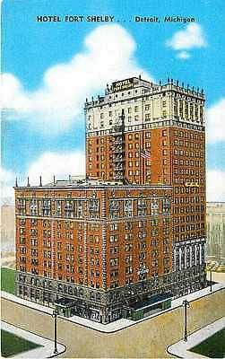 Detroit Michigan MI 1950s Hotel Fort Shelby Collectible Antique Vintage Postcard
