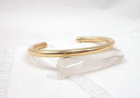 Bracelet jonc esclave en laiton, bracelet d'énergie en cuivre et laiton, bracelet laiton sur mesure, bracelet homme, bracelet femme.