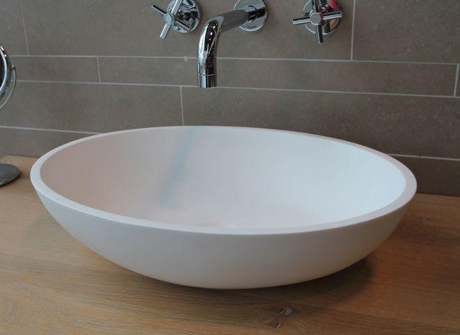 Waskom LUVA solid surface - Product in beeld - Startpagina voor badkamer ideeën   UW-badkamer.nl