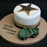 85th Army jeep birthday cake  www.thelittlevillagecakery.co.uk