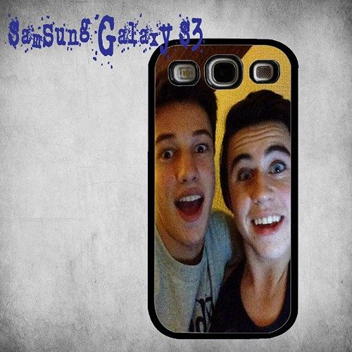 Cameron Dallas with Nash Grier Cute Pose Print On Hard Plastic Samsung Galaxy S3, Black Case
