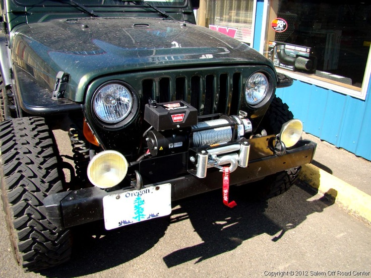 jeep wrangler tj a warn ind vr winch and a bulldog 97 jeep wrangler tj a warn ind vr8000 winch and a bulldog winch plate moffroadcenter com wrangler tj 97 jeep wrangler