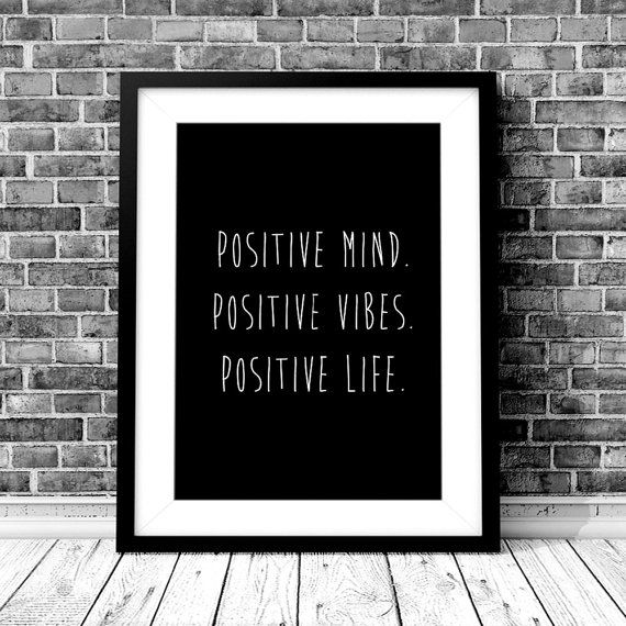 POSITIVE LIFE Digital Download  Monochrome A4 by StaceyLeeLoves