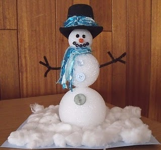 Styrofoam Ball Snowman Cute Christmas Pinterest