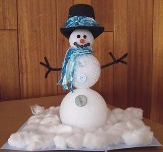 Styrofoam Ball Snowman Cute Christmas Pinterest