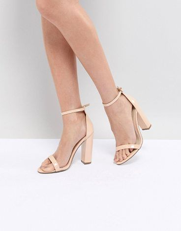 7814aee0023131 Block Heeled Barely There Sandal by MISSGUIDED. Heels by Missguided ...