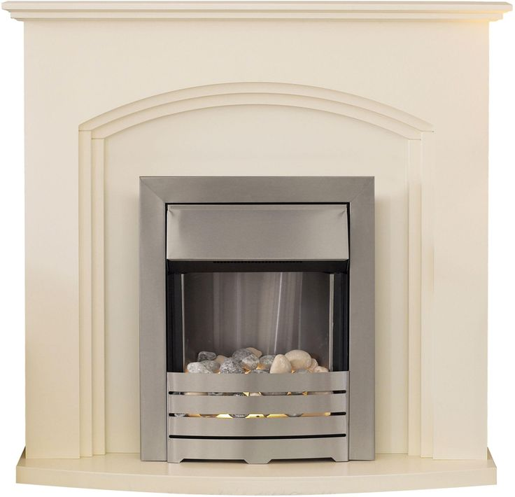Image of Adam - Truro 2kW - Electric Fireplace Suite - Ivory