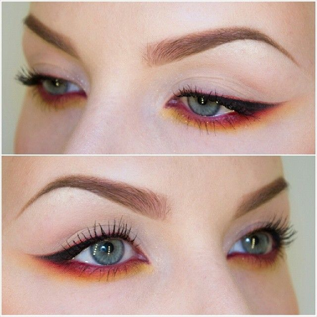 Love It Make Up Done Right Red Eye Makeup Eye Makeup