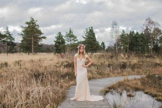Illusion lace bodice sweetheart spaghetti straps mermaid wedding dress backless from Ulass
