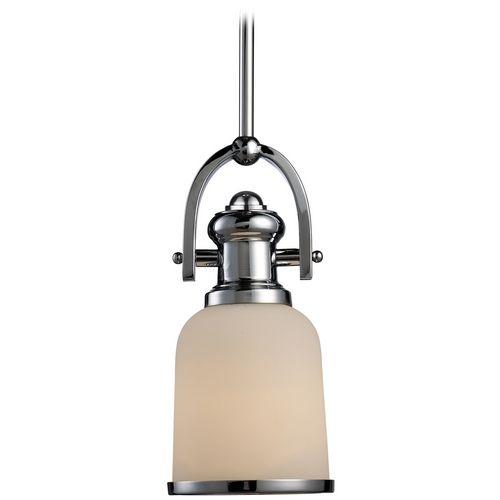 minipendant light with white shade
