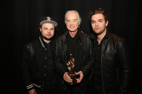 Royal Blood rub shoulders with Led Zep legend Jimmy Page. Find out how it all went down at NME Awards 2015 with our as-it-happened live blog from the night  http://nmem.ag/JiUD5