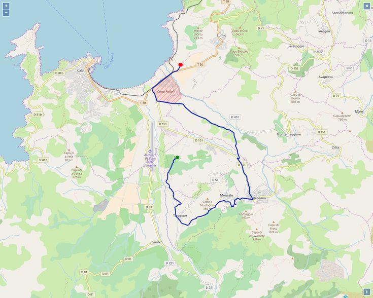 La découverte farfelue du jour: un parcours à Calvi qui ressemble au 20k Marseille-Cassis ... #dénivelé #entrainement #courir #calvi #corse #MarseilleCassis #run #course
