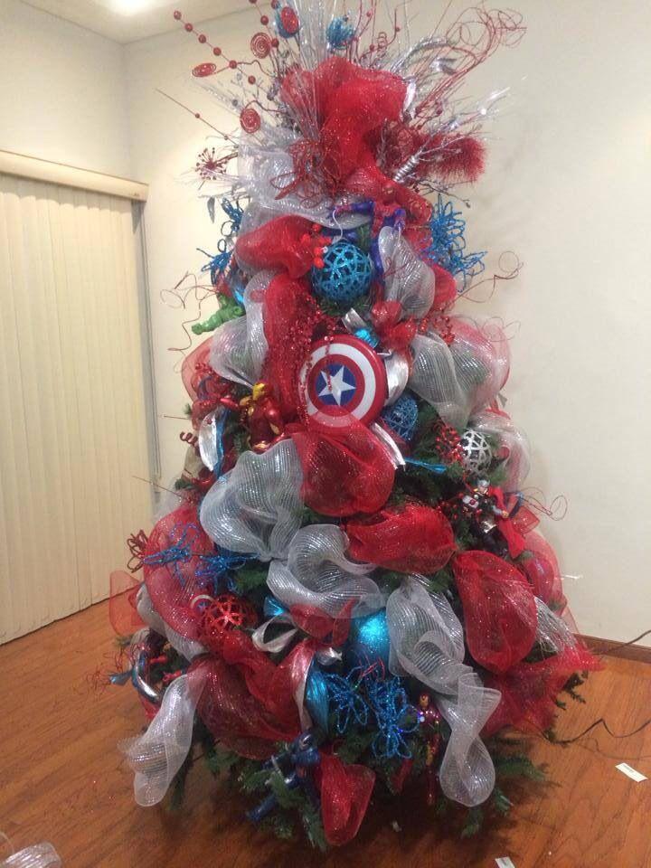 Flocked Alpine Christmas Tree