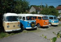All of our lovely vans together
