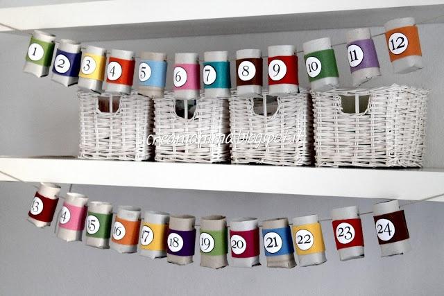 Diary of a Creamamma: Calendar with rolls of cardboard and felt
