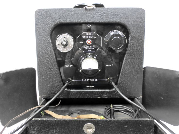 Vintage 1950's Medical Machine Diathermy Electrotherapy, Portable Tens Unit, Works