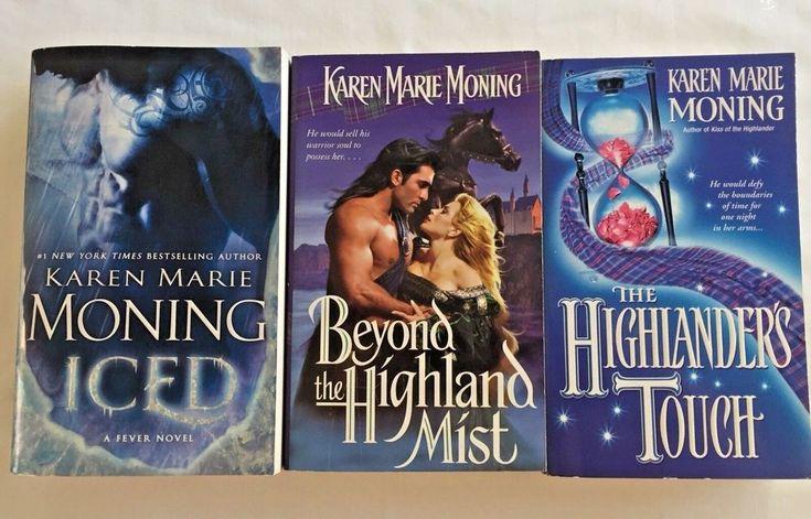 Book Lot of 3 Karen Marie Moning Highlanders Touch Beyond Highlanders Mist Iced