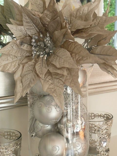"queenbee1924: "" (via Countdown to Christmas - Christmas Mantelpiece … | ❆ Silver & Gold …) "" ~♥♥♥~"