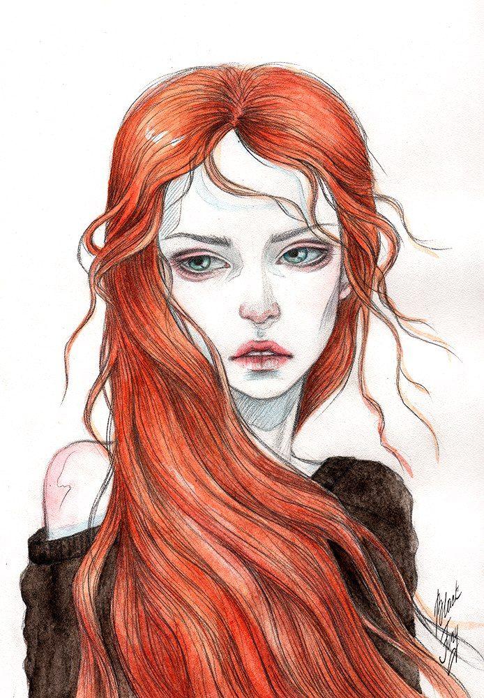 Картинка замерз, рыжие картинки нарисованные