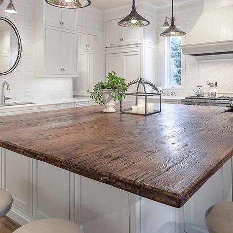 best 25+ reclaimed wood countertop ideas on pinterest | copper
