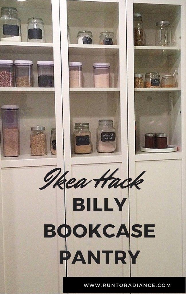IKEA Pantry Hack   Kitchen Pantry Using Ikea Billy Bookcase!
