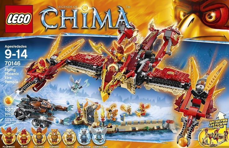 Amazon.com: LEGO Chima 70146 Flying Phoenix Fire Temple Building Toy: Toys & Games