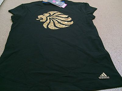 #Official #adidas olympics london 2012 team gb lion head #ladies black t-shirt,  View more on the LINK: 	http://www.zeppy.io/product/gb/2/121297149635/