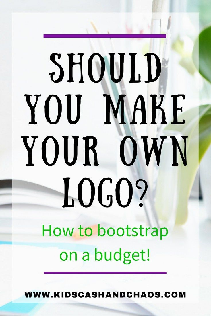 Should you make your own logo? Find out how to create a logo on the cheap!