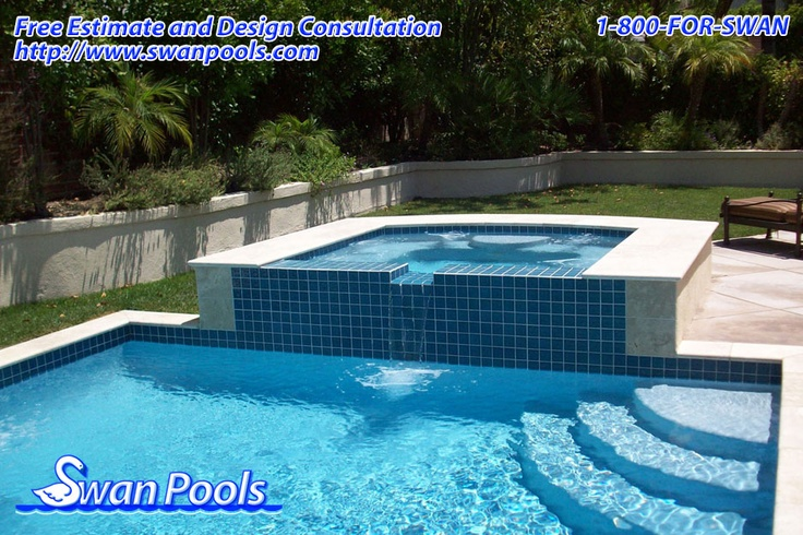 39 best swan pools sheer descents rip rap water features for Quality pool design